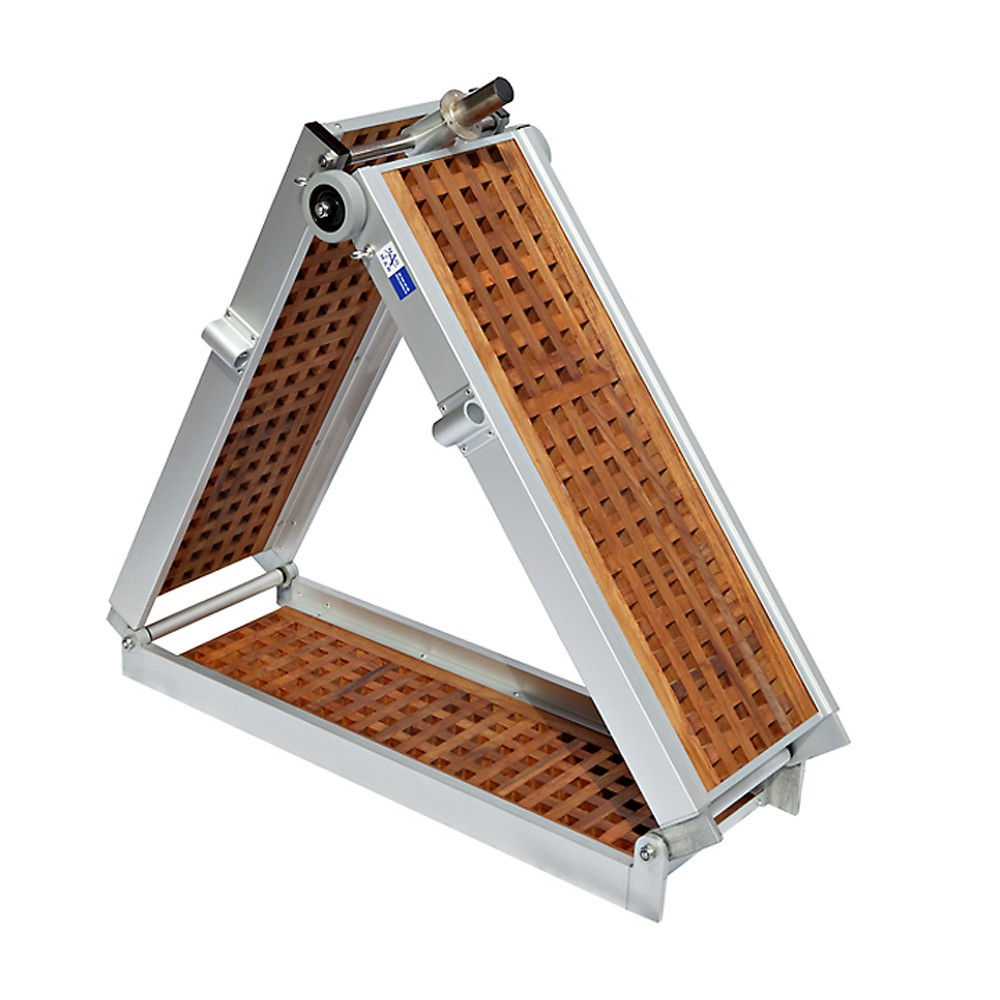 Gangway Light-Teak, 2x folding sections