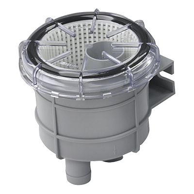 Cooling water strainers